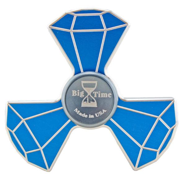 custom metal fidget spinner blue
