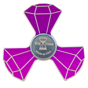 custom metal fidget spinner purple