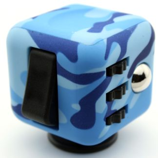 Fidget Cube 6 sided Blue Camo