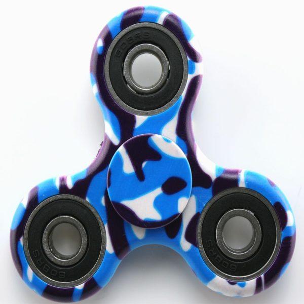 Fidget Spinner Blue Camo