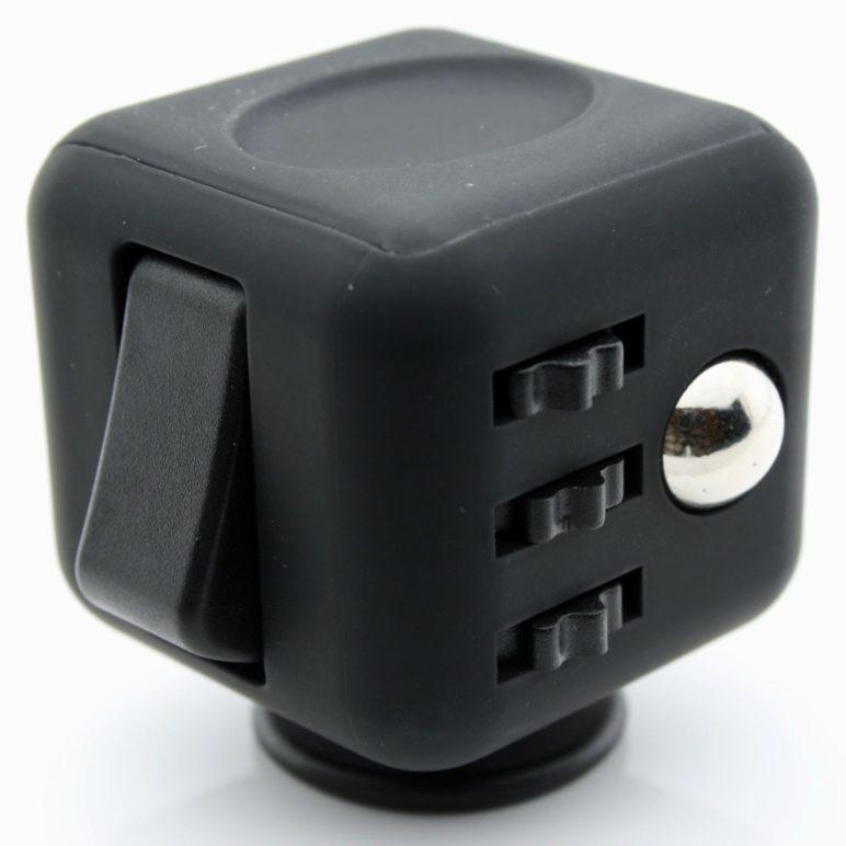 Fidget Cube Black With Black Buttons