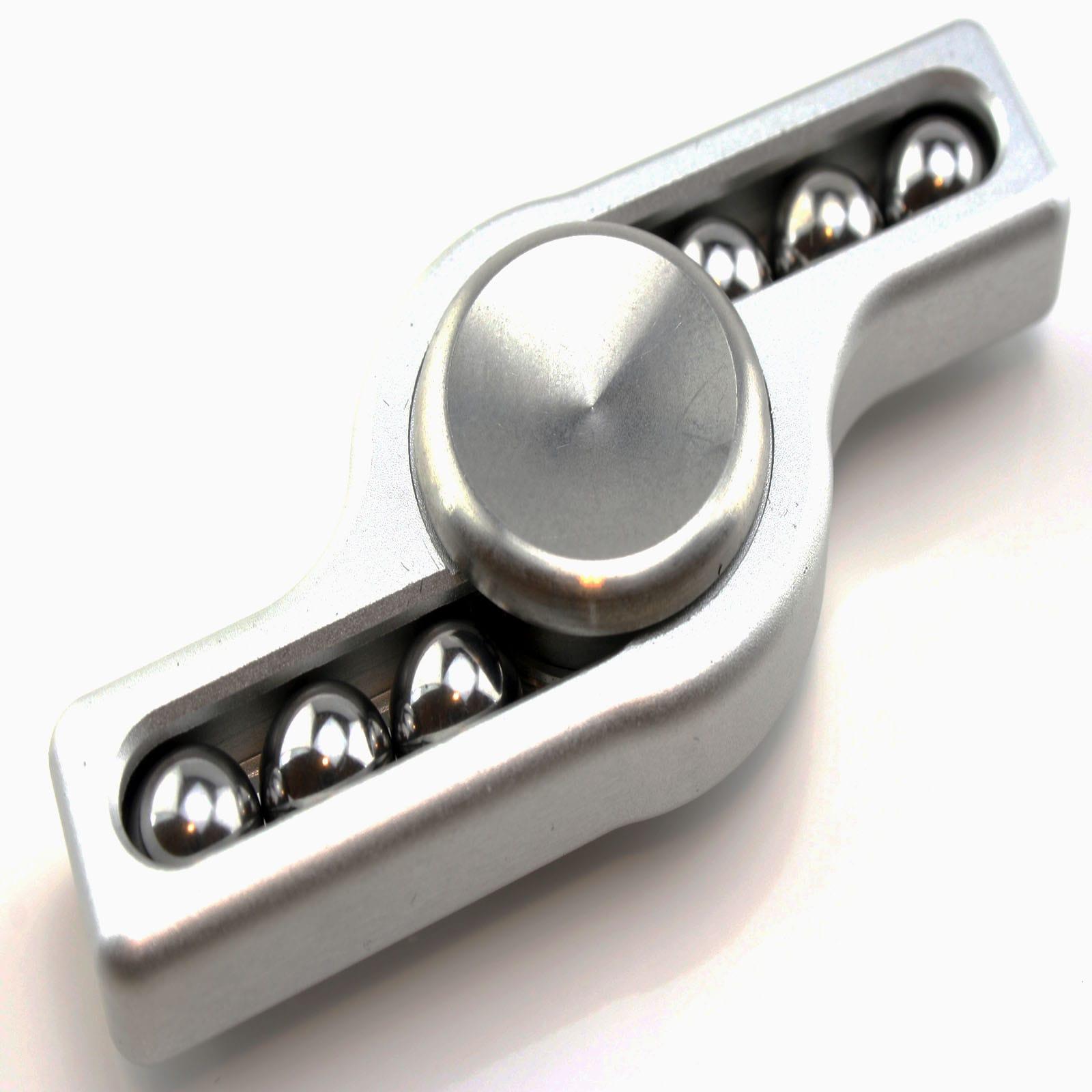 metal bar fidget spinner silver
