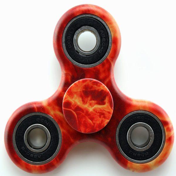 Fidget Spinner Fire Camo