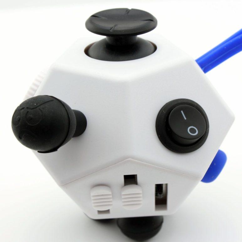 12 side Fidget Cube White