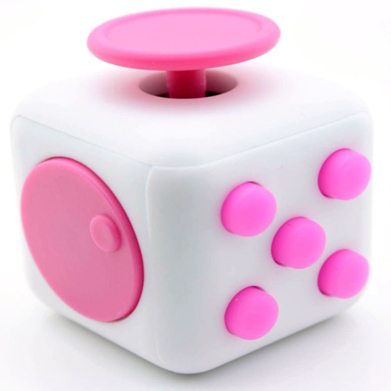 Fidget Cube White and Pink