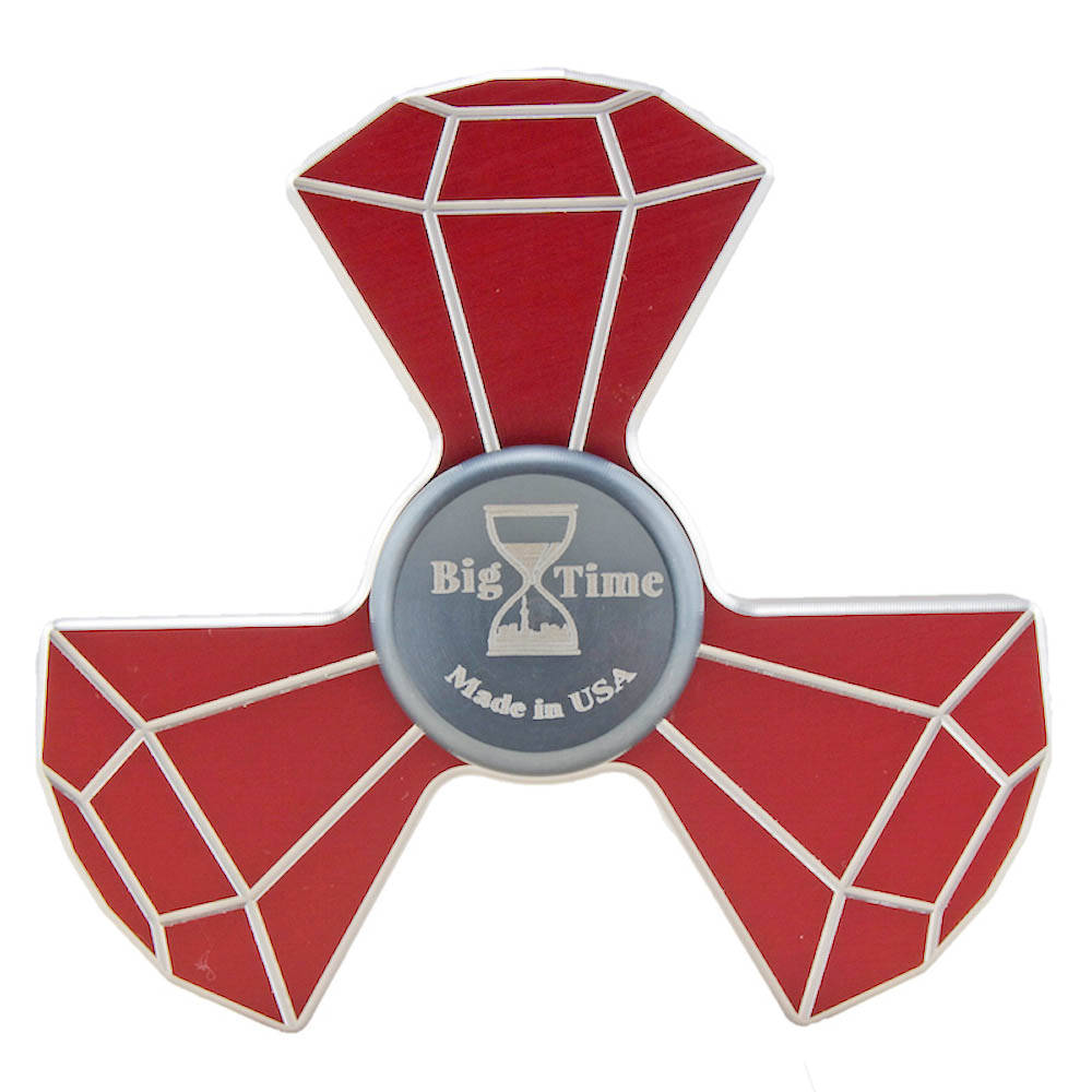 Red metal fidget spinner